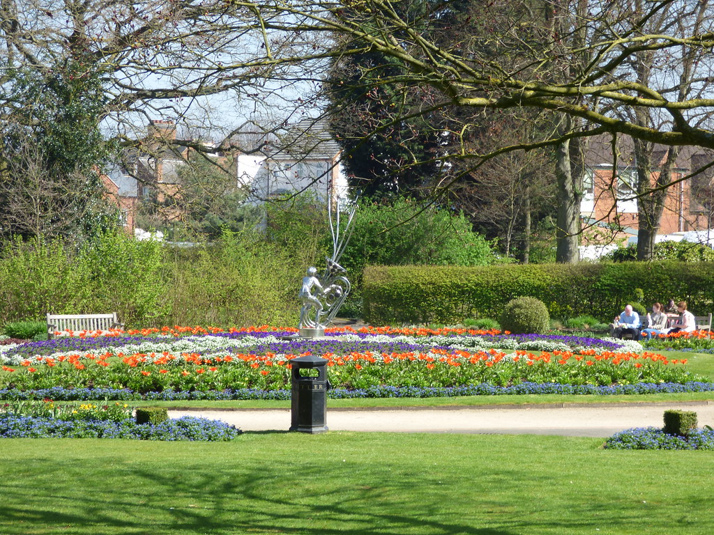 The well-manicured Caldecott Park