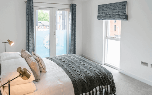 Arden Quarter case study bedroom